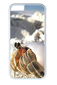 iphone 6 plus 5.5inch Case Crabs On The Beach PC Hard Plastic Case for iphone 6 plus 5.5inch Whtie