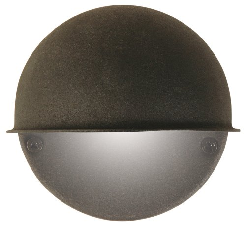 Moonrays 95732 Low Voltage Outdoor wall mounted Sconce Light, With Round Metal Surface, 7 Watts, Constructed From Durable Diecast metal With Black Finish