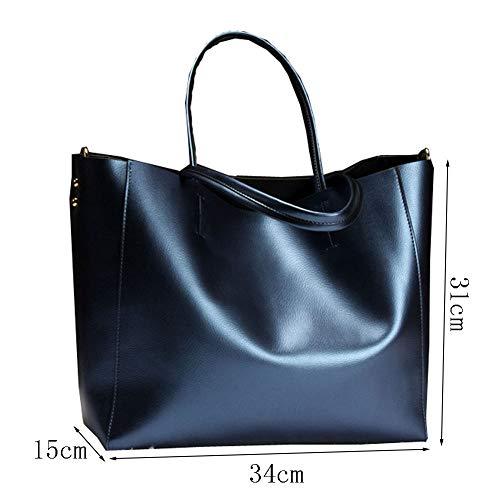 Rivet Carrées Main Sacs élégantes Femmes à Multifonctions Mode tout Sac Fourre Haute Loisirs Sacs Blue Pochettes Capacité w01q6FFZ5x