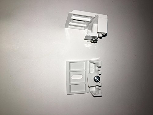 e Brackets 1 Pair For Stanard Pull cord 3/8 Honeycomb Duette Shades) by Window Blind Service Center ()