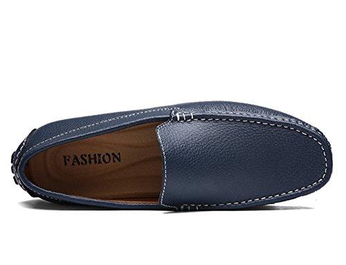 Zapatos Respirable de Studio SK de Mocasine Cuero Conducción Del Azul Zapatos Mocasines Calzado Hombre Barco Oscuro x4wgqwvdY