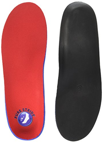 Pure Stride Foot Orthotics Insoles for Plantar Fasciitis, Metatarsal and Heel Spurs - Arch Support Insoles - Full Length M 7-7.5 / W 9-9.5 (Best Orthotics For Heel Spurs)