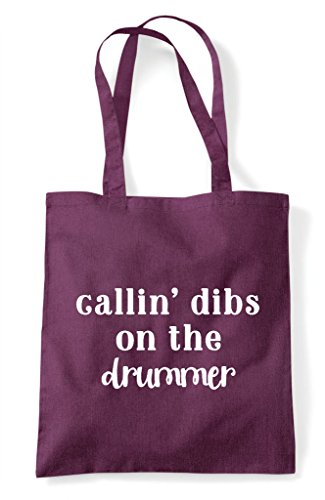 Drummer Dibs Statement On Plum Shopper Tote Bag The Calling OgTqw