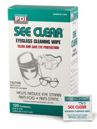 Pdi See Clear Eye Glass Cleaning Wipes 120/bx (Pack of - Eyeglasses 365