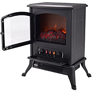 1000W Adjustable Metal Electric Fireplace Heater - By Choice Products