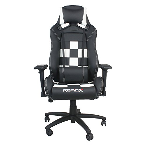 41 xjK9bmQL - Finish-Line-Checkered-Flag-Pattern-Gaming-and-Lifestyle-Chair-by-RapidX