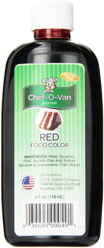 Chef-O-Van Food Coloring, Red, 4 Ounce]()