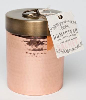 SACHET 14 oz Hammered Canister Homestead Candle by Found Goods Market