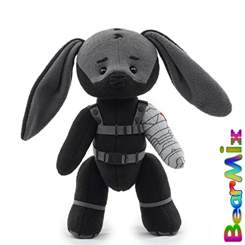 Bucky Winter Soldier bunny - marvel superhero movie comic plush toy avengers bucky barnes -  BearMix