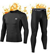 MEETWEE Thermal Underwear for Men, Winter Base Layer Set Tops amp; Long Johns Compression Wintergear...