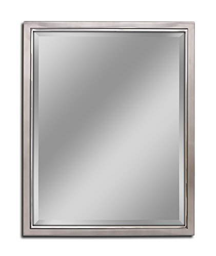 - Head West 24 x 30 Classic Brush Nickel/Chrome Mirror, 24x30