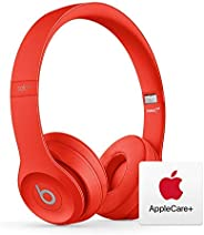 Beats Solo3 Wireless On-Ear Headphones - Apple W1 Chip - Red with AppleCare+ Bundle