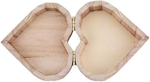 CHENZHAOL Joyero Chicas Caja de Almacenamiento en Forma de corazón Caja de Madera Joyero Regalo de Boda Maquillaje Pendientes cosméticos Anillo Escritorio Rangement Maquillaje Organizador de Madera: Amazon.es: Hogar