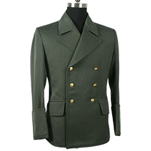 Field-green Gabardine SS officer jacket, Hitler WW2 German (Hitler Costume)