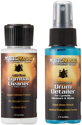 Music Nomad MN117 Cymbal Cleaner and Drum Detailer Pack, 2 oz.
