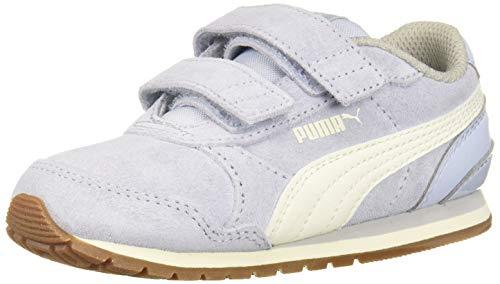 PUMA Unisex ST Runner Velcro Sneaker, Heatherwhisper White-Gray Violet, 11.5 M US Little Kid