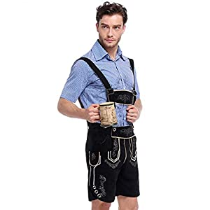 Charm&Cstay Men Lederhosen Costume for Oktoberfest Bavarian