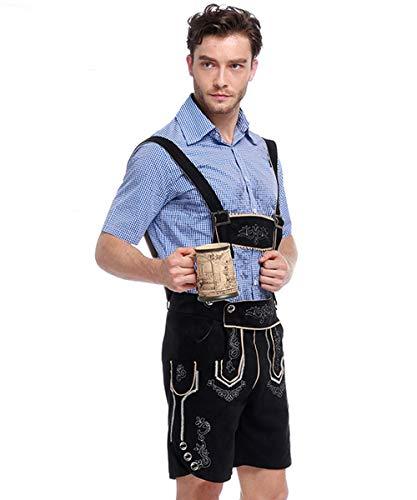 Authentic German Lederhosen Costume, Male Traditional Clothing for Oktoberfest Bavarian