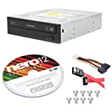 Samsung SH-224DB/BEBE-KIT 24x Internal CD DVD±R/RW Dual Layer Disc Burner Drive Writer + Nero 12 Essentials + Sata Cable Kit