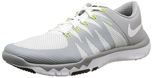 Nike Men's Free Trainer 5.0 V6, White/White-Wolf Grey, 9.5 M US (Men 2015 Soccer Shoes Nike)