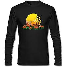 Men's 2016 Halloween The Great Pumpkin King Long Sleeve Tshirts Black