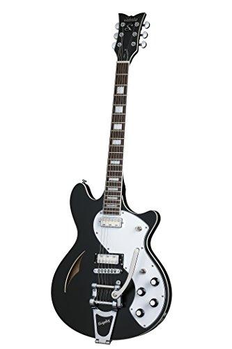 Schecter 292 Semi-Hollow-Body Electric Guitar, Black Pearl