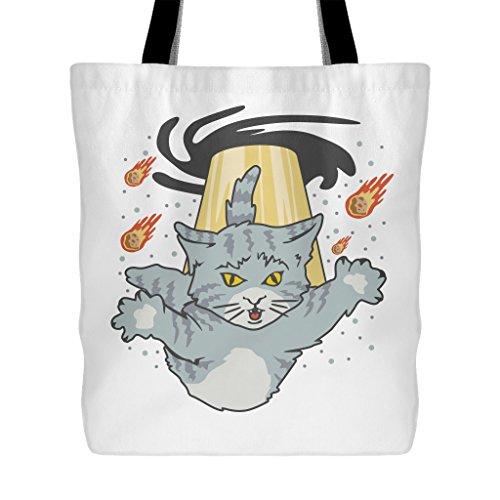 Alien Cat Black Hole Invasion   Funny 18  X 18  Tote Bag