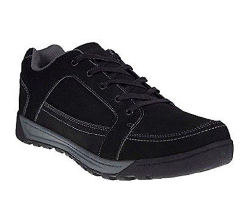 Regatta Mens Stanly Low Waterproof Nubuck Leather Casual Walking Shoes Black 8mHDmK