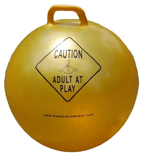 Always A Kid At heart Adult At Play Exercise, Fitness and Stability Ball with Handle and Hand Air (Play Fitness Ball)