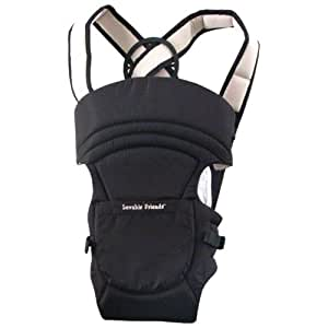 Luvable Friends 2-in-1 Soft Baby Carrier, Black, 3-18 Months (Discontinued by Manufacturer)