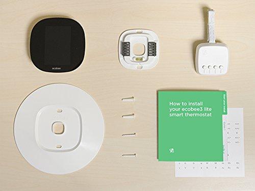 ecobee3 lite smart thermostat 2nd gen black home. Black Bedroom Furniture Sets. Home Design Ideas