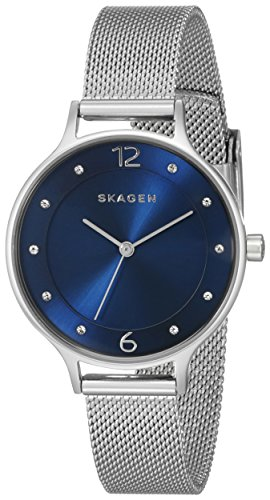 Skagen Women's Anita Quartz Stainless Steel Mesh Casual - Womens Skagen Black Mesh Watch