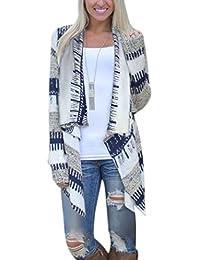 Phoenix Womens Geometric Print Casual Knit Cape Cloak...