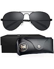 Lentes De Sol Hombre Aviador 0°Polarizados VEGOOS Gafas Para Caballero Mujer Dama 100% Protección UV400 Anti Reflectante Anti Ultravioleta