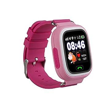 110a3fc85cb Relógio Smartwatch Q90 kids Gps Localizador de Crianças Idosos Rastreador  Chamadas SOS Andorid IOS (ROSA
