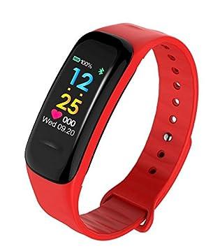 SZHAIYU Pulsera inteligente colorida con monitor de frecuencia cardíaca, cuenta de pasos, calorías, distancia, ...