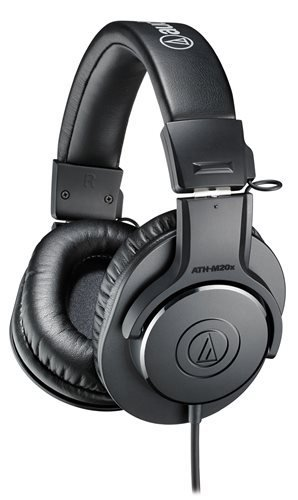 Audio-Technica ATH-M20X Professional Studio Monitor Headphones (Certified Refurbished)
