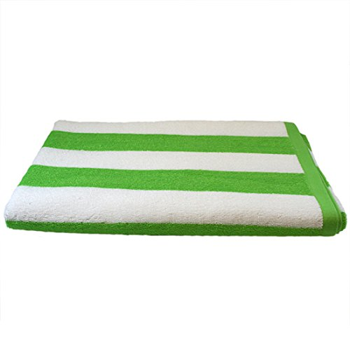 TowelRobes Cabana Striped Loop Terry Beach Towel