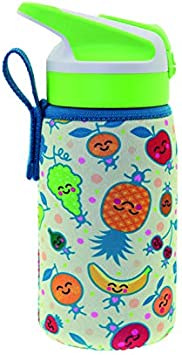 Laken Tritan Junior - Botella de tritán unisex con cierre de Summit (0,45 L, funda de neopreno), color verde