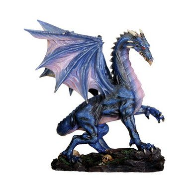 YTC Summit Midnight Dragon Collectible Serpent Statue Figurine Model Sculpture, Multi Color from YTC