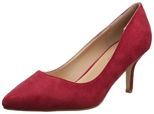 Brinley Co Women's Nina Pump Red MAElmfnBs
