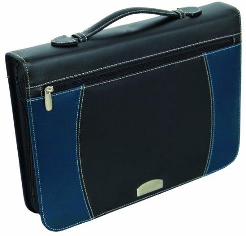 Bags for LessTM Zippered Notepad Binder, Black/Navy