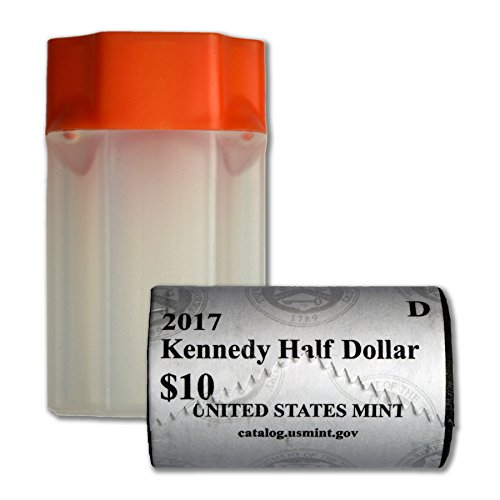2017 D Kennedy Half Dollar US Mint Wrapped Roll Brilliant Uncirculated