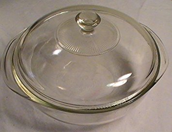 Corning Pyrex Clear Glass Round 2 Qt. Casserole with Lid
