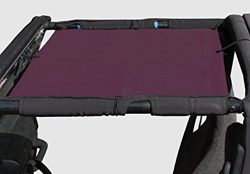 ALIEN SUNSHADE Jeep Wrangler Mesh Shade Top Cover with 10 Year Warranty Provides UV Protection for Your TJ Front Passengers (1997-2006) (Wine) (2002 Wine)