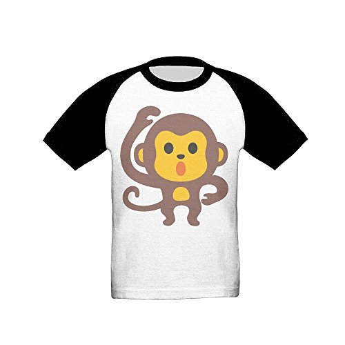 Osmantus Boy's Girl's Cute Monkey Raglan T-Shirts 3/4 Sleeves Baseball Tee 4 Toddler