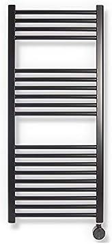 ClimaSpain Radiador Toallero Electrico Mallorca · Secatoallas de Baño en Color Negro Mate con 400W · Toalleros Electricos Termostato Digital (1120x500mm) · GARANTÍA Especial 5 AÑOS