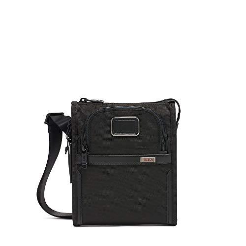TUMI - Alpha 3 Small Pocket Crossbody Bag - Satchel for Men and Women - Black