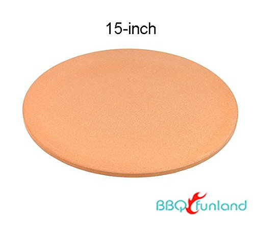 B1515 15-Inch Round Cordierite Baking/Pizza Stone - For Oven or Grill
