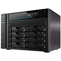 Asustor Lockerstor 2 AS6508T 8 Bay Diskless NAS, Intel Quad Core 2.1GHz CPU, 8GB RAM DDR4, M.2 NVMe SSD Caching, Network…